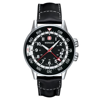Wenger Mens Black Commando Traveler Watch