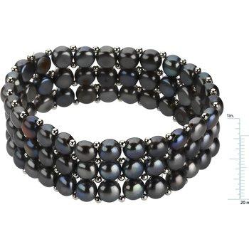 Freshwater Dyed Black Cultured Pearl Bracelet