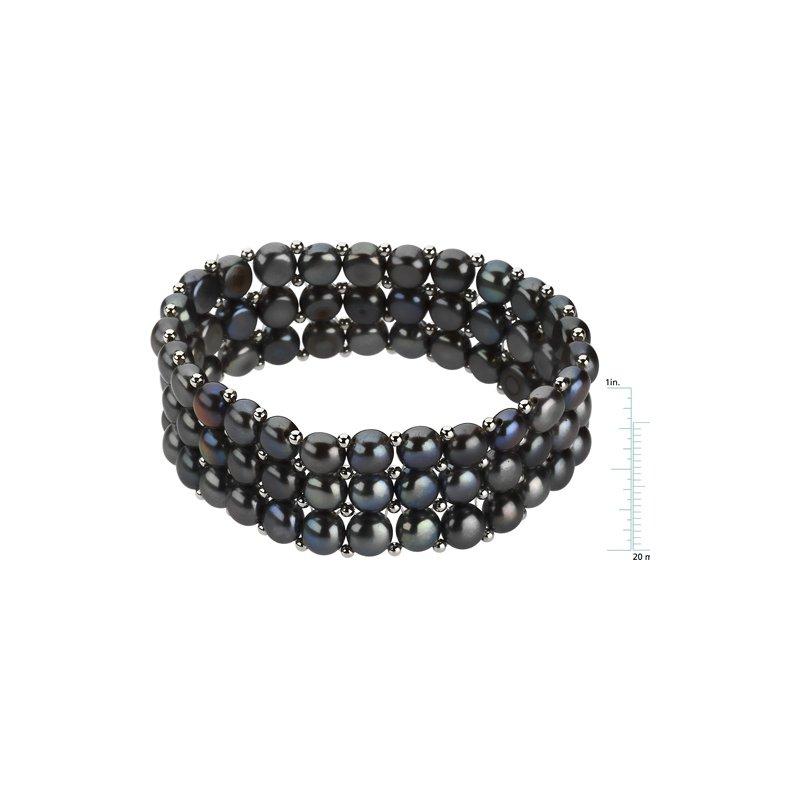 Ladies' Jewelry Freshwater Dyed Black Cultured Pearl Bracelet