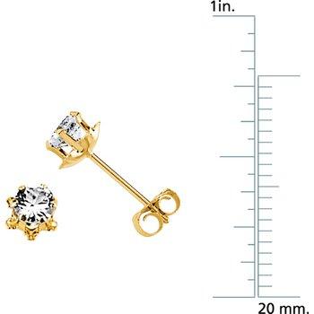 Teen April Birthstone Earrings