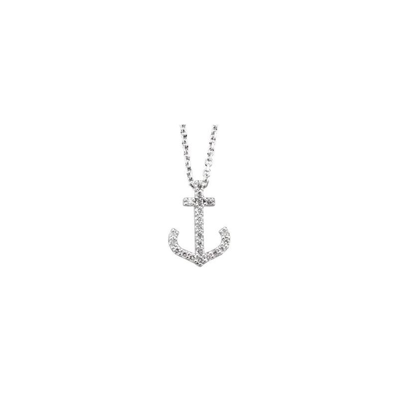 Ladies' Jewelry Diamond Anchor Necklace
