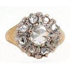 Vintage Bridal Antique, two tone, diamond ring