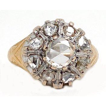 Antique, two tone, diamond ring