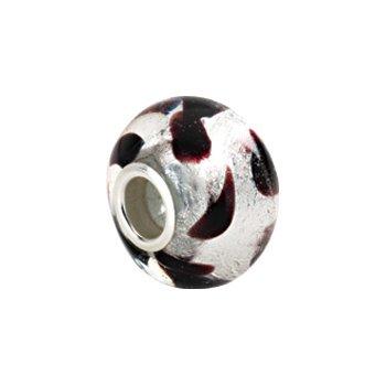 Kera Silver Leopard Murano Glass Bead