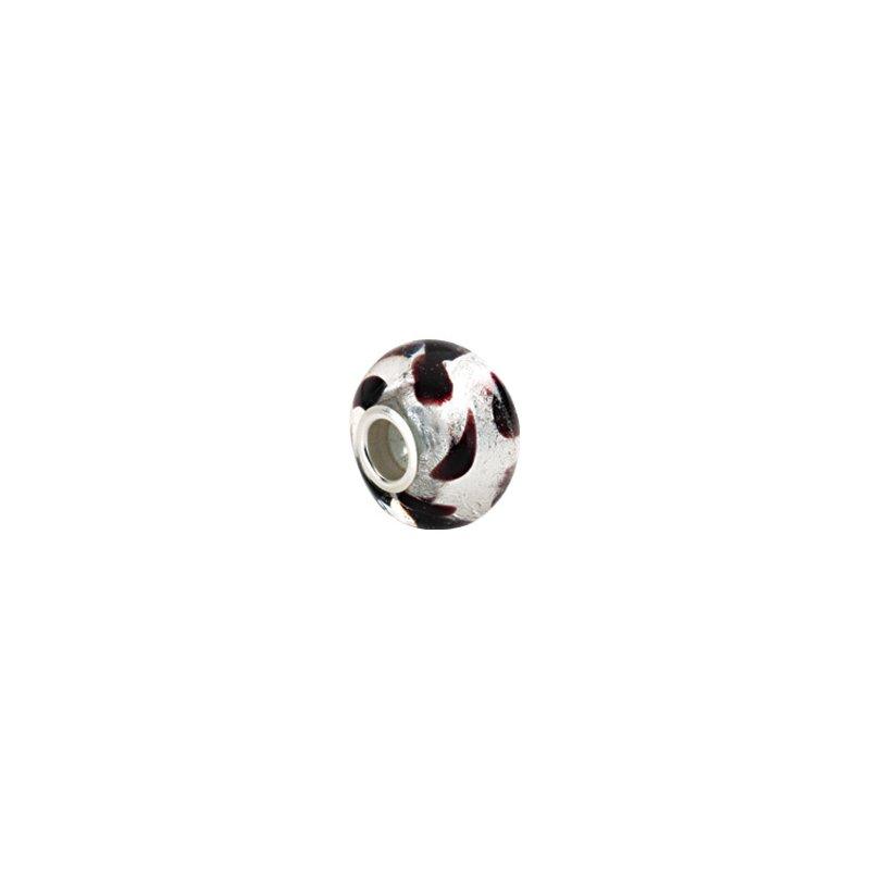 Holiday Ideas Kera Silver Leopard Murano Glass Bead