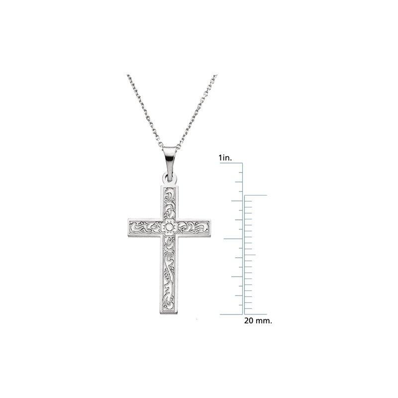 Religious Jewelry Cross Pendant with Design