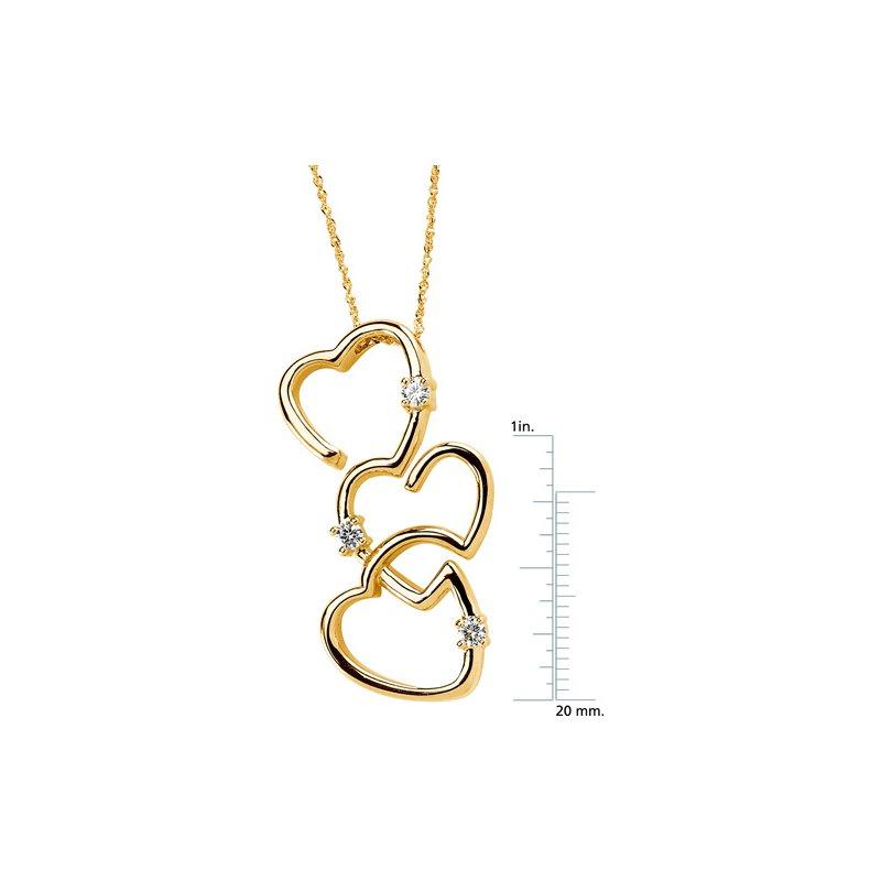 Ladies' Jewelry Moissanite Hearts Pendant On Singapore Chain