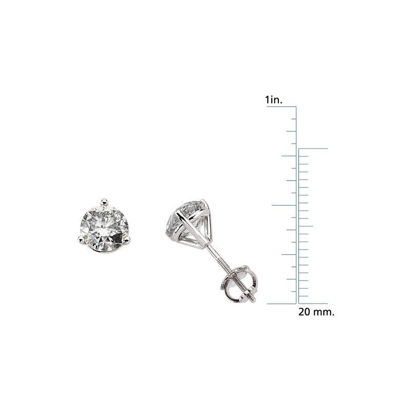 Ladies' Jewelry Diamond Solitaire Stud Earrings