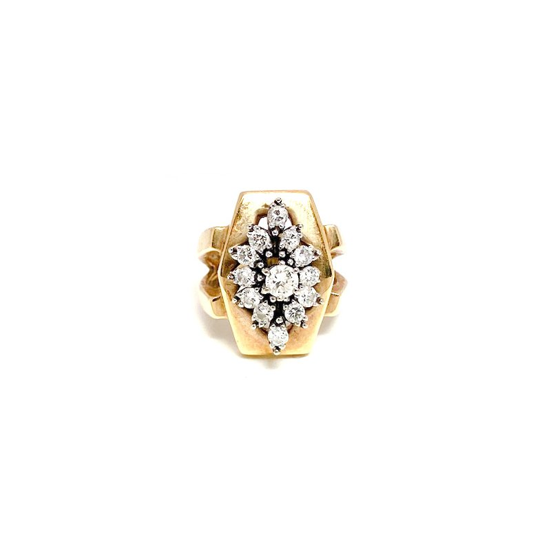Estate & Vintage Lady's vintage diamond, white and yellow gold ring