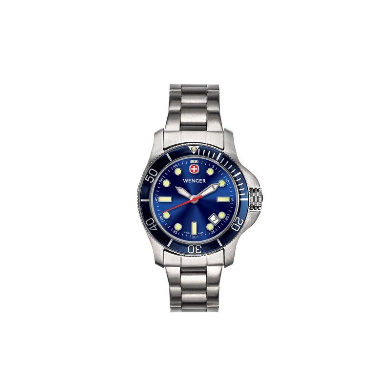 Eisen Watches Wenger Ladies Blue Battalion III Diver Watch