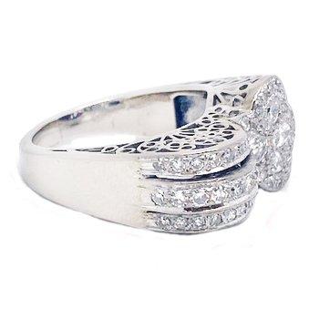Vintage bridal, Art Deco design ring