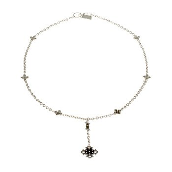 Ion Plated Diamond Cross Necklace