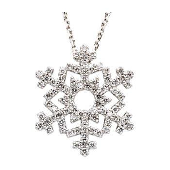 Diamond Snowflake Necklace