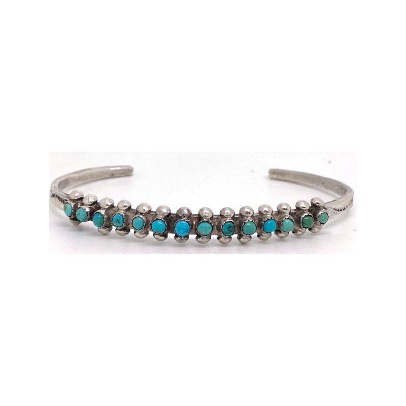 Vintage Silver Vintage Native American sterling silver and Turquoise bracelet