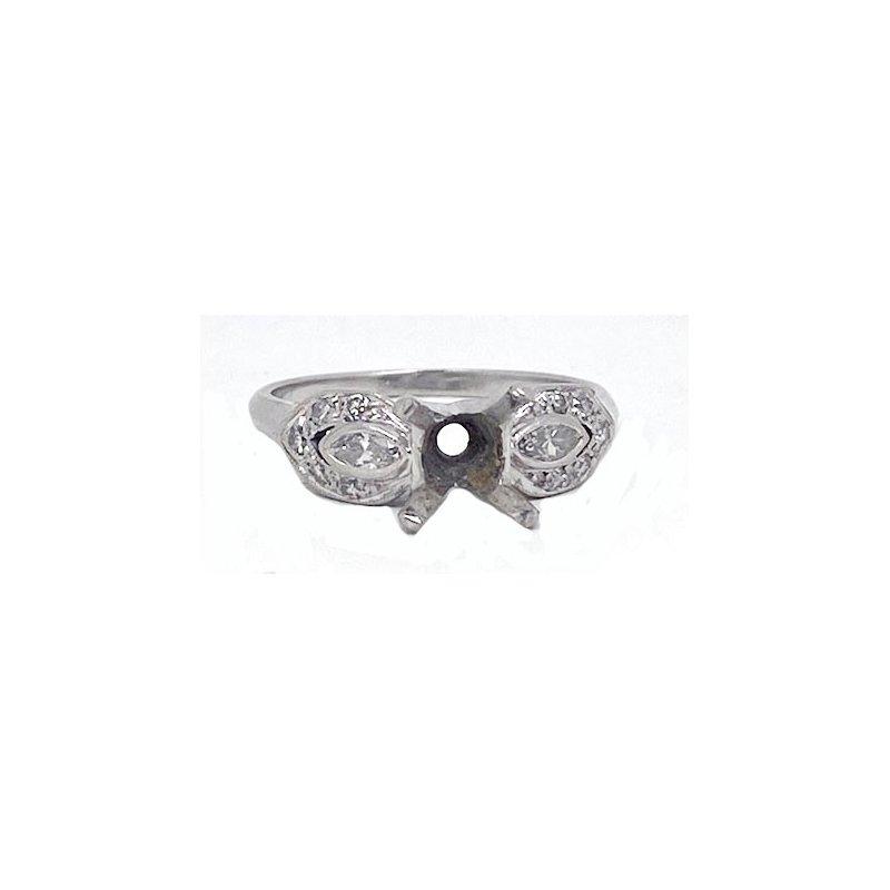 Vintage Bridal Diamond and Platinum, Vintage Mounting
