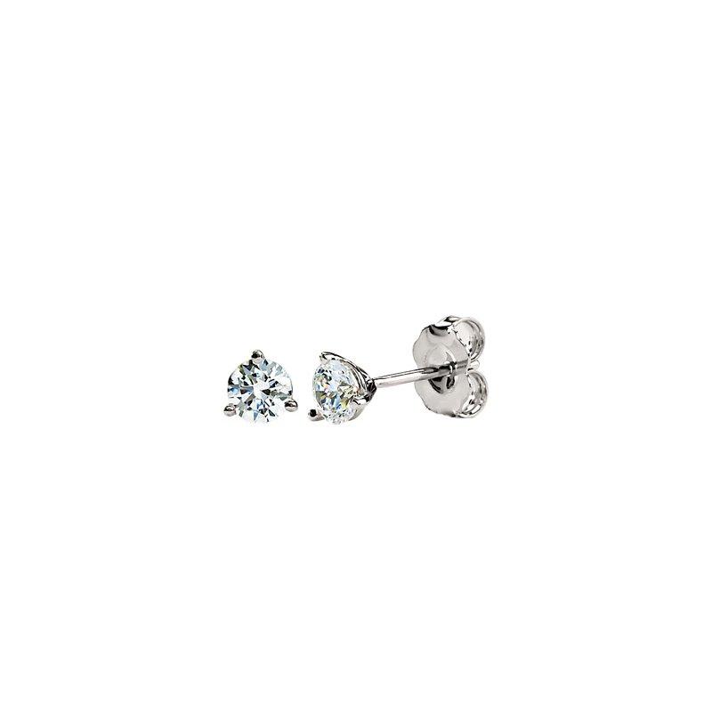 Ladies' Jewelry 5.5mm Created Moissanite Earrings