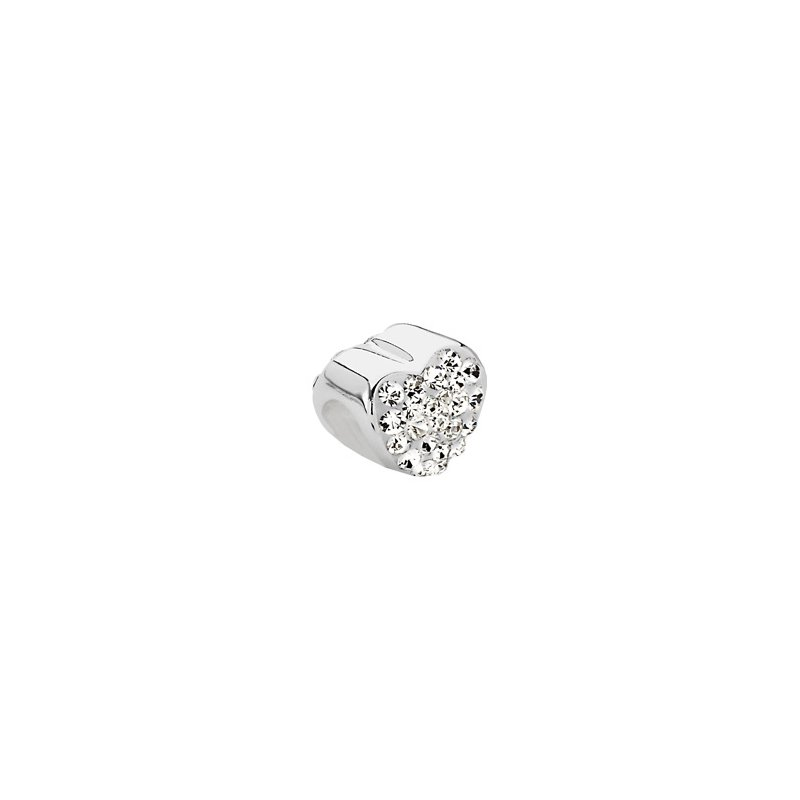 Holiday Ideas Kera Heart Bead with Pave' Crystals