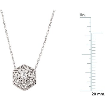 Diamond Filigree Necklace