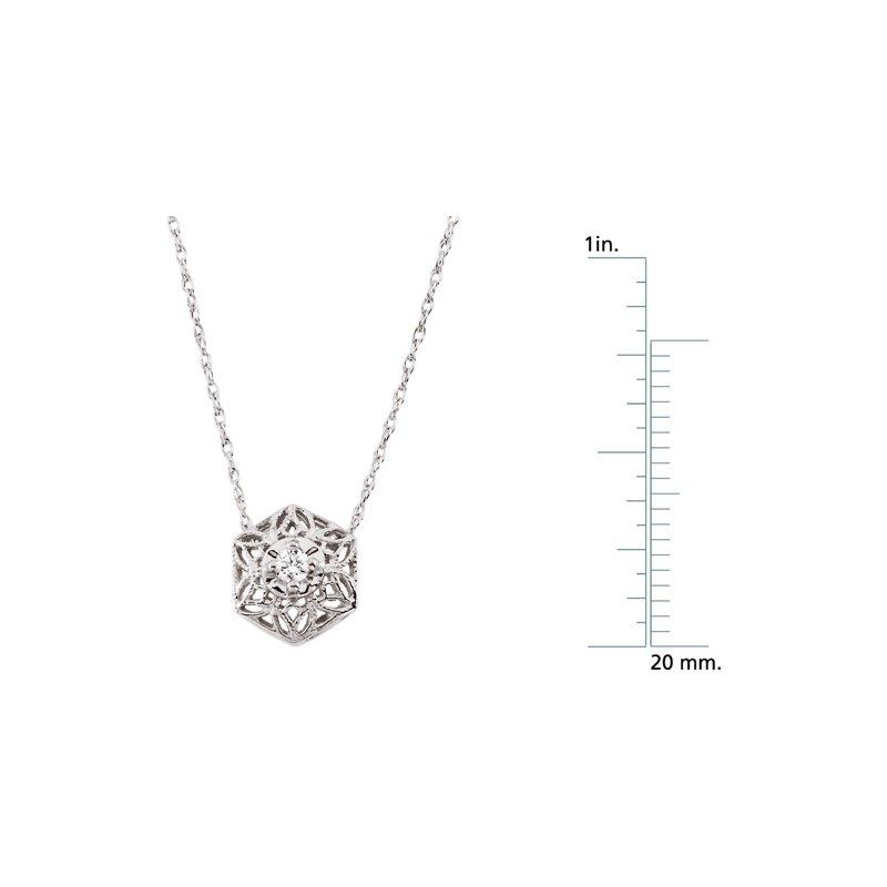 Ladies' Jewelry Diamond Filigree Necklace