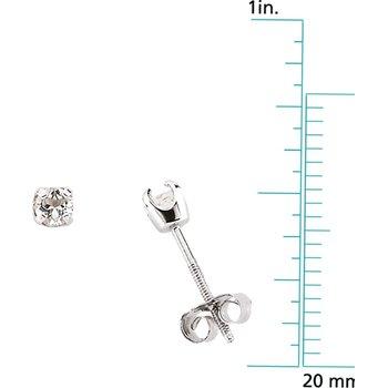 Children's Genuine White Topaz April Birthstone Earrings