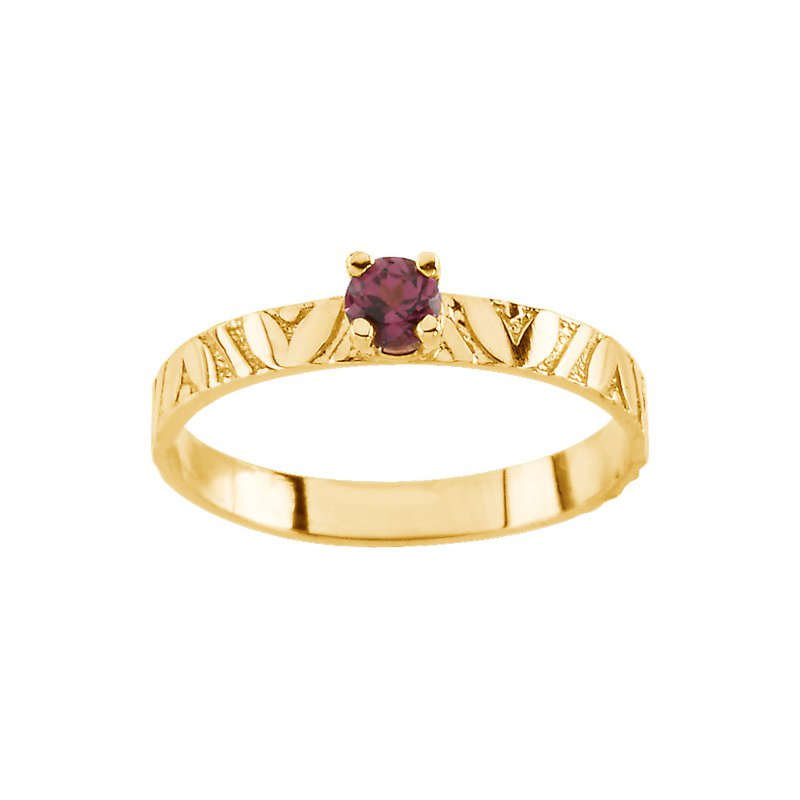 Birthstone Jewelry Children's Genuine Rhodolite Garnet June Birthstone Ring
