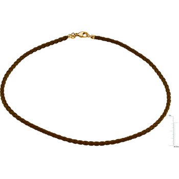 Brown Braided Leather Cord