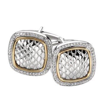 Men's Diamond Cuff Links