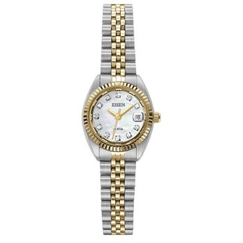 Eisen Lady's Stainless Steel & Gold Tone Quartz Wrist Watch