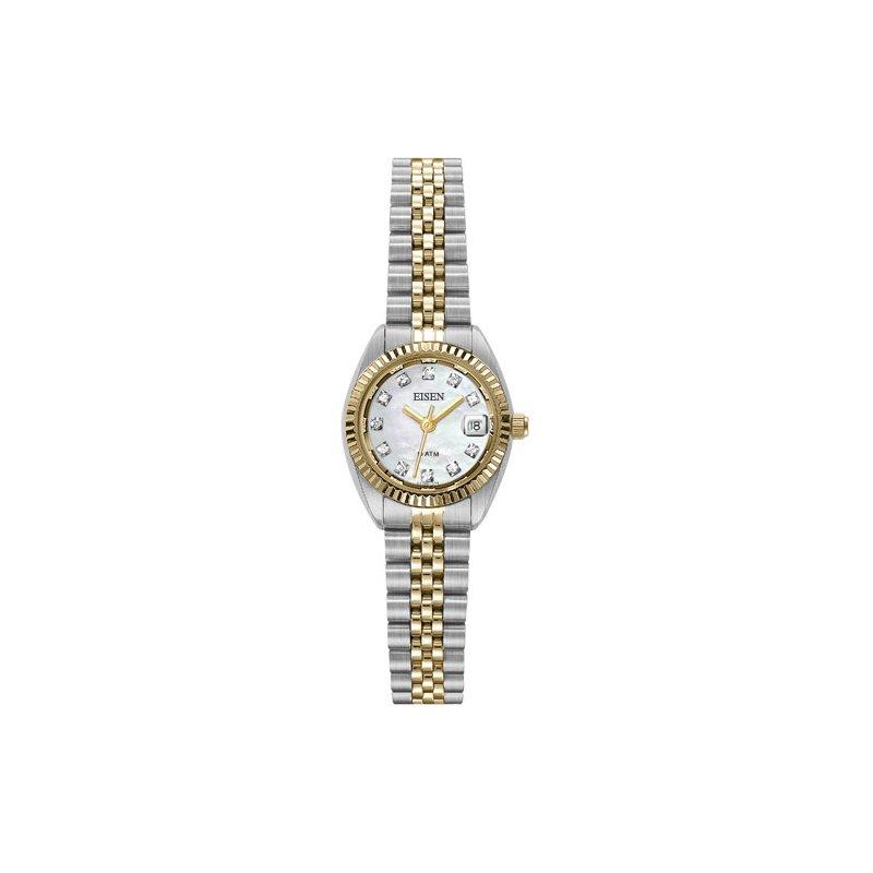 Eisen Watches Eisen Lady's Stainless Steel & Gold Tone Quartz Wrist Watch