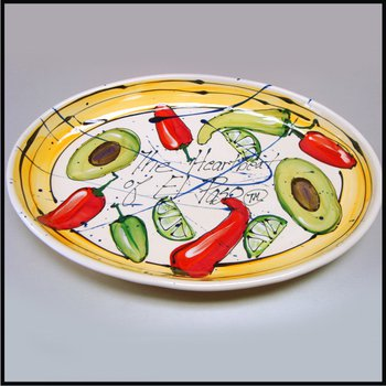 "Heart Beat of El Paso ""El Paso is Hot!"" Large Oval Server"