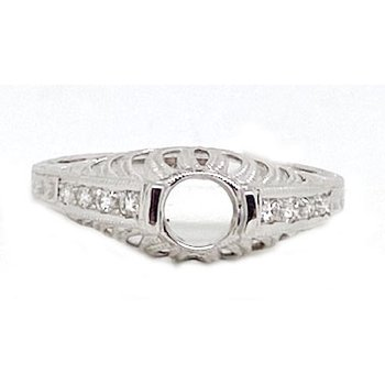 Diamond and White Gold, New Vintage Style Mounting