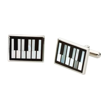 Men's Genuine Multi Gem-stone Piano Cuff Links