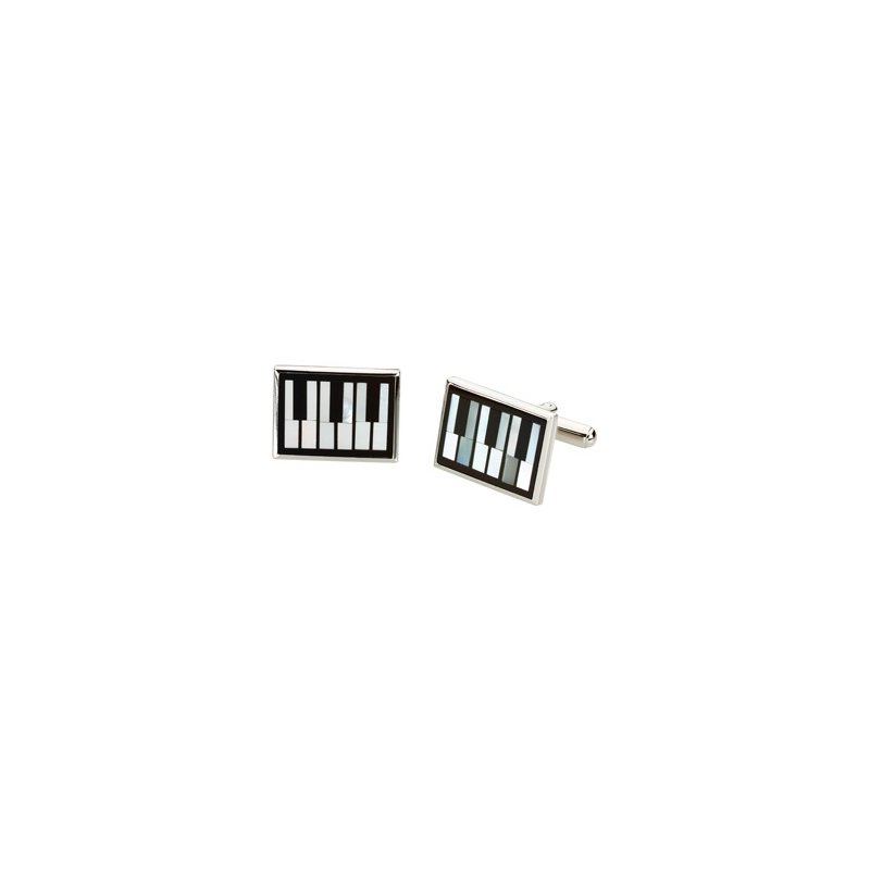 Men's Jewelry Men's Genuine Multi Gem-stone Piano Cuff Links