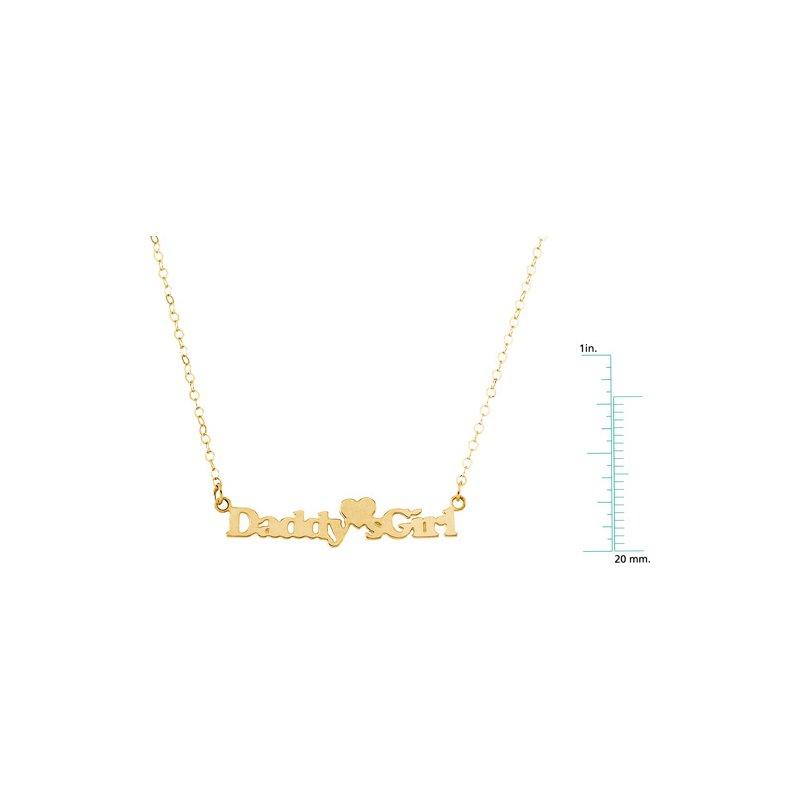 "Children's Jewelry Children's ""Daddy's Girl"" Pendant On 15-inch Chain"