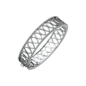 5 1/4 ct tw Diamond Bangle Bracelet