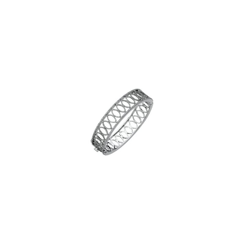 Holiday Ideas 5 1/4 ct tw Diamond Bangle Bracelet