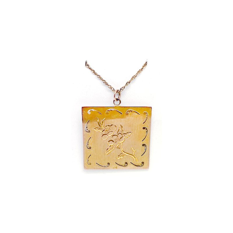 Estate & Vintage Lady's vintage, jade, and yellow gold necklace