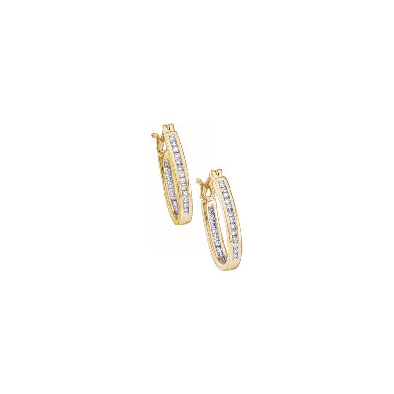 Ladies' Jewelry 1/3 ct tw Diamond Inside-Outside Hoop Earrings