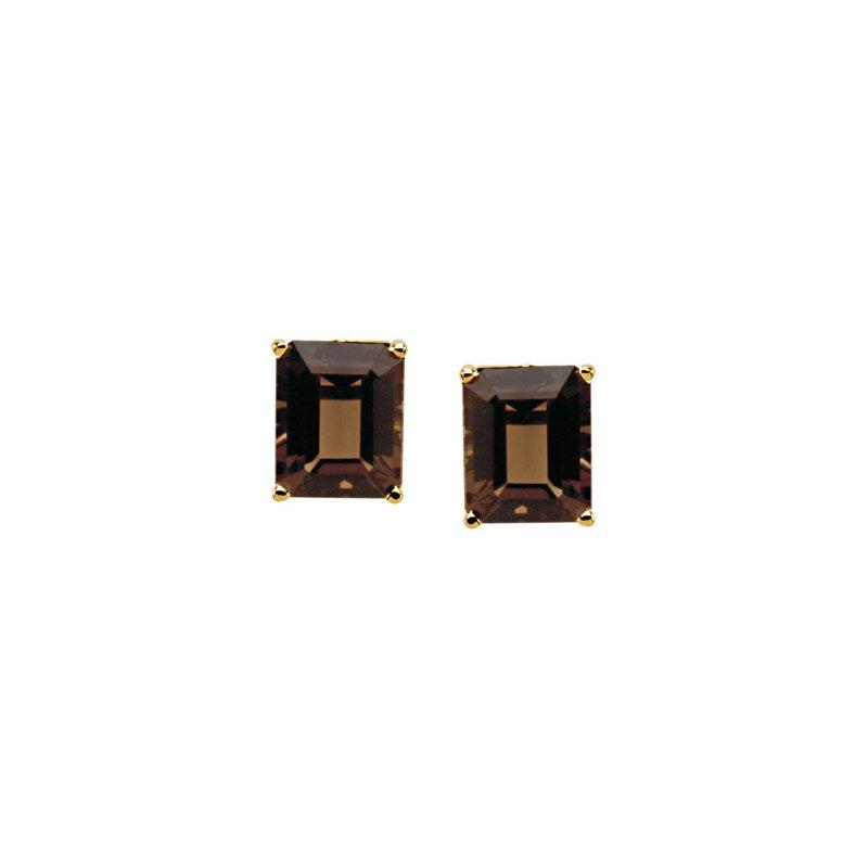 Ladies' Jewelry Genuine Smoky Quartz Earrings