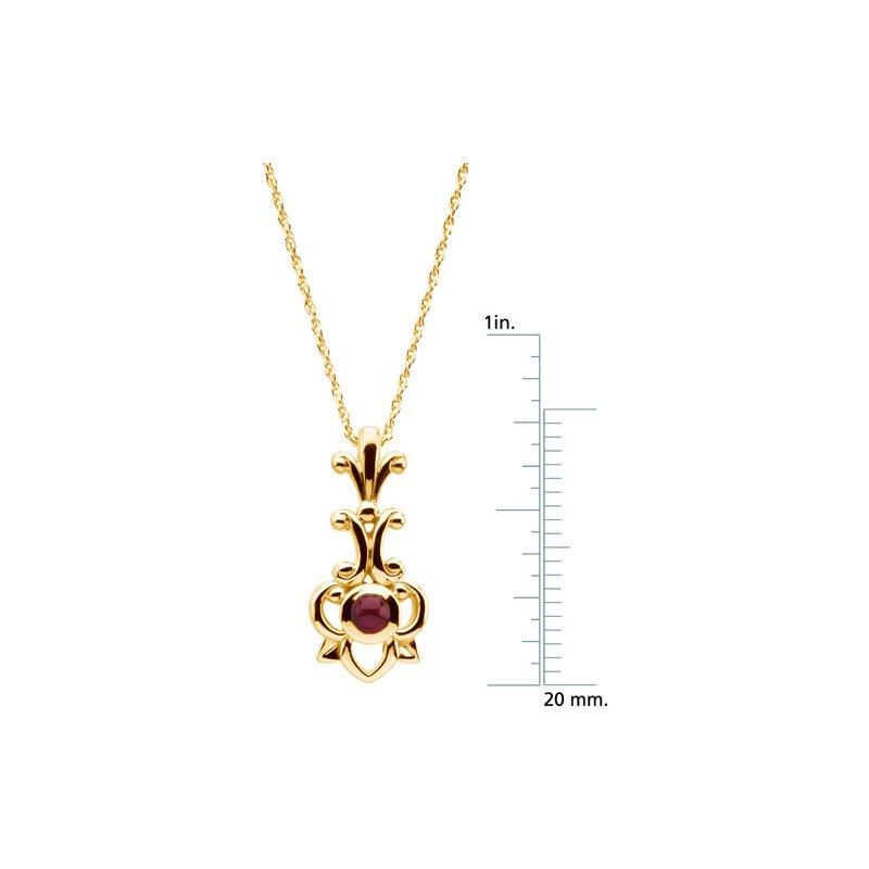 Ladies' Jewelry Genuine Ruby Necklace