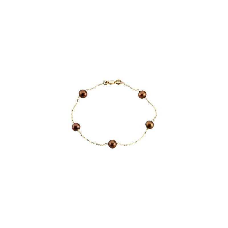 Ladies' Jewelry Freshwater Cultured Chocolate Pearl Bracelet