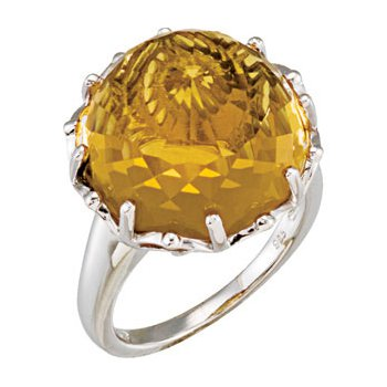 Genuine Honey Quartz Ring