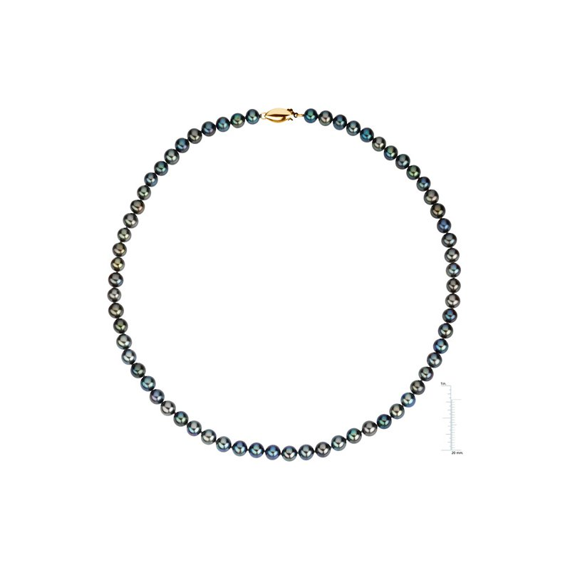 Ladies' Jewelry 16-inch Freshwater Black Cultured Pearl Strand