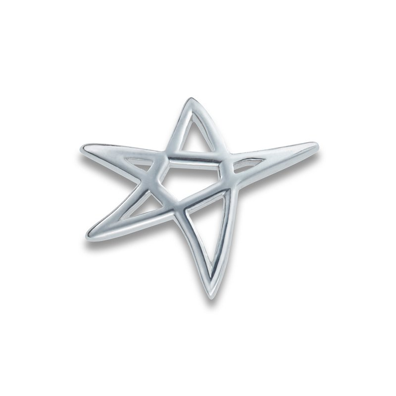 El Paso Star and Gifts Heartbeat of El Paso Collection: Star on the Mountain™ Silver Pendant in 4 Sizes
