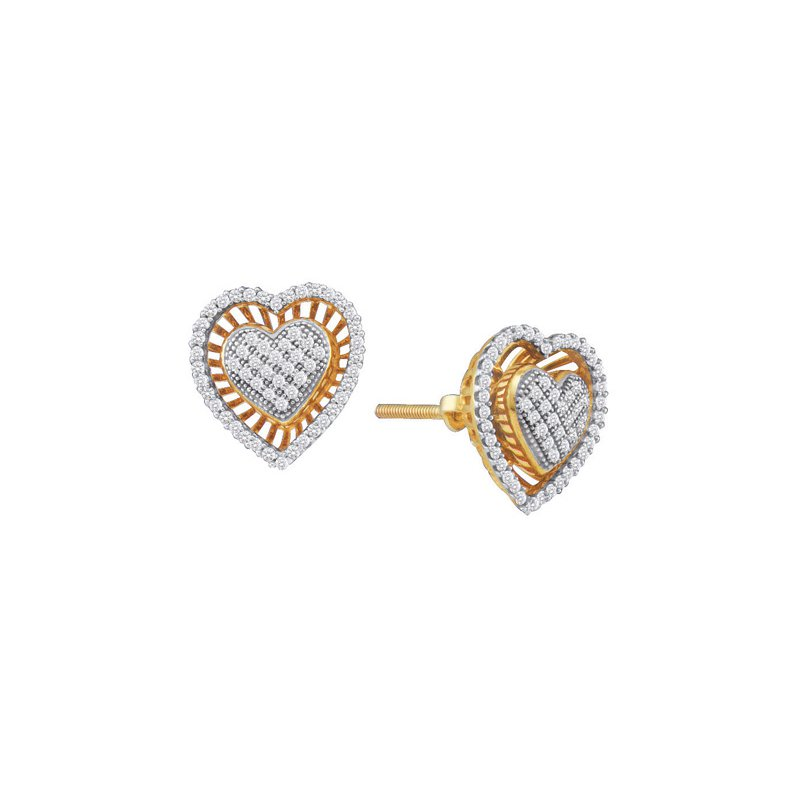 Valentine Gift Ideas Diamond Heart Earrings