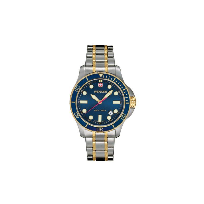 Eisen Watches Wenger Mens Two Tone Batallion III Diver Watch