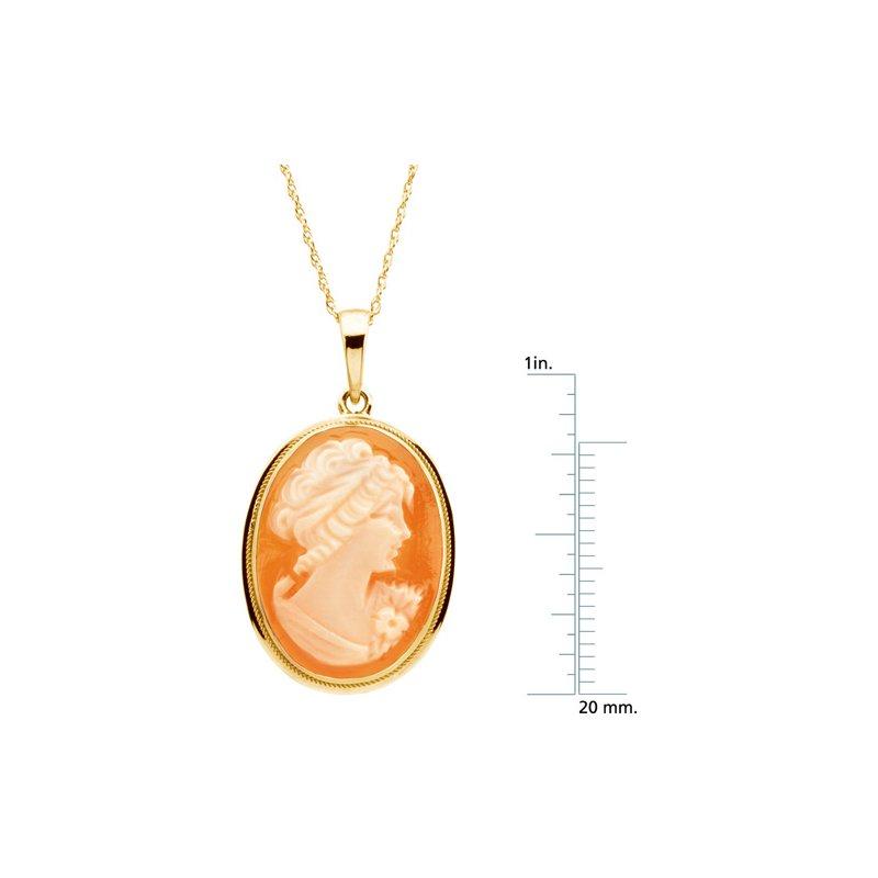 Ladies' Jewelry Cornelian Shell Cameo Necklace