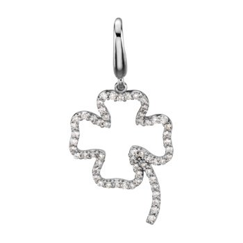 1/4 ct tw Diamond Clover Charm