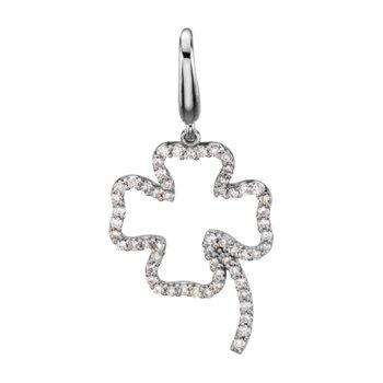 1/4 ct tw Diamond Clover Charm