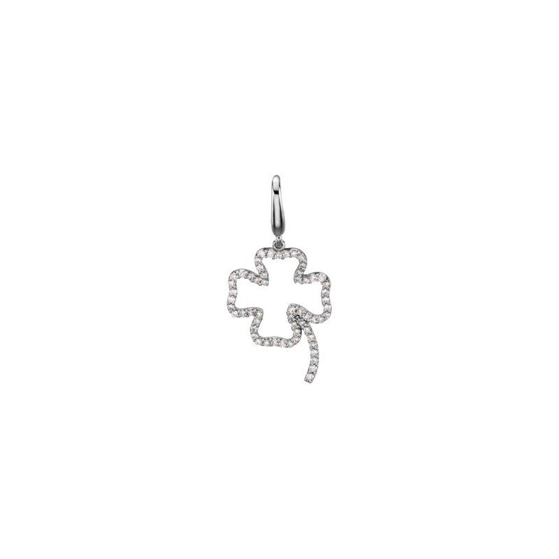 Holiday Ideas 1/4 ct tw Diamond Clover Charm